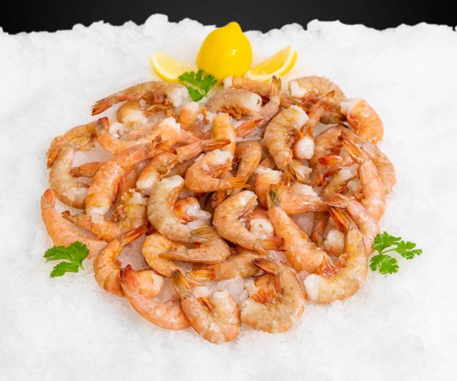 Wholesale Seafood Photo Gallery Image: Jumbo gold shrimp